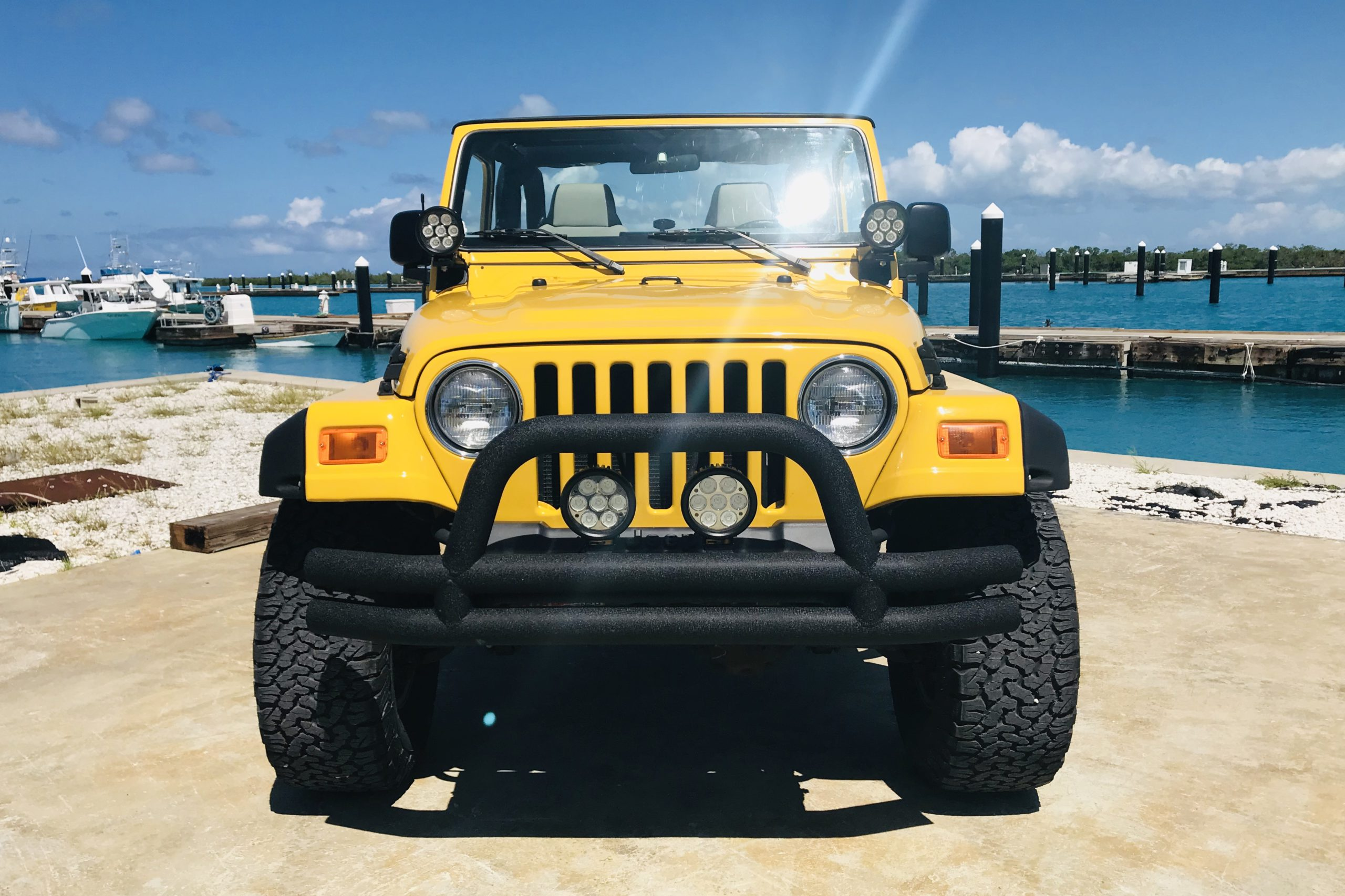Yellow 2 Door Jeep Wrangler